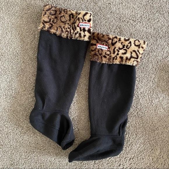 Hunter Leopard Print Welly Socks